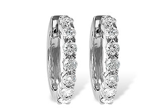 B037-30830: EARRINGS 1.00 CT TW