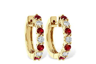 C037-30839: EARRINGS .64 RUBY 1.05 TGW