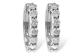 F037-30830: EARRINGS 2 CT TW